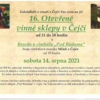 16. Otevřené vinné sklepy v Čejči