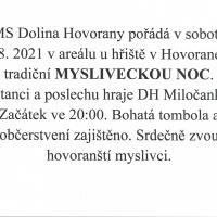 MYSLIVECKÁ NOC