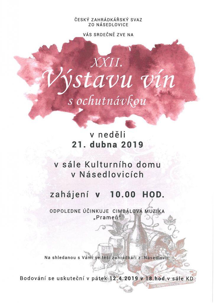 Násedlovice - Výstava vín